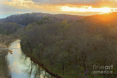 Photograph - Sunset On The River by Reva Dow