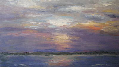 Painting - Sunset On The River by Sharon Franke