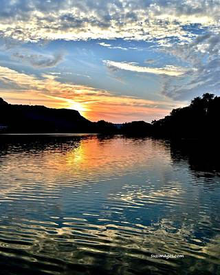 Photograph - Sunset On The River by Susie Loechler