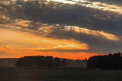 Photograph - Sunset On The Road To Galena by Joni Eskridge
