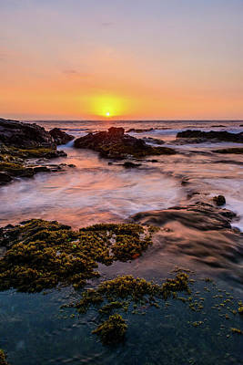 Photograph - Sunset On The Rocks 10 by Jason Chu