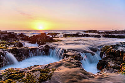 Photograph - Sunset On The Rocks 11 by Jason Chu