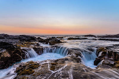 Photograph - Sunset On The Rocks 3 by Jason Chu