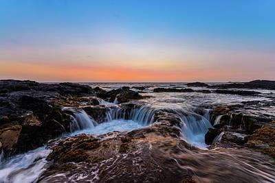 Photograph - Sunset On The Rocks 5 by Jason Chu