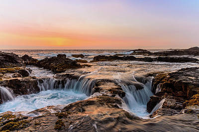 Photograph - Sunset On The Rocks 6 by Jason Chu