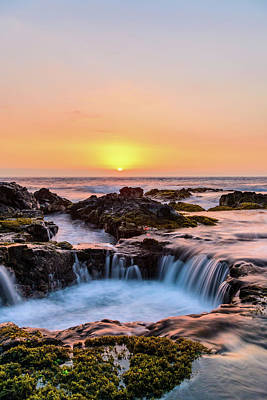 Photograph - Sunset On The Rocks 9 by Jason Chu