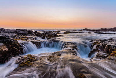 Photograph - Sunset On The Rocks by Jason Chu