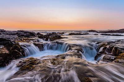 Photograph - Sunset On The Rocks by Jason Chu