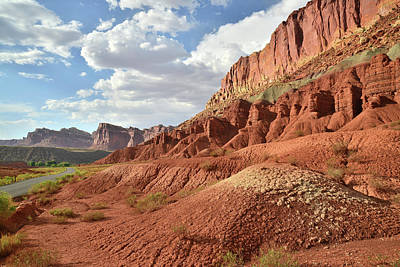 Photograph - Sunset On The Scenic Drive In Capitol Reef by Ray Mathis