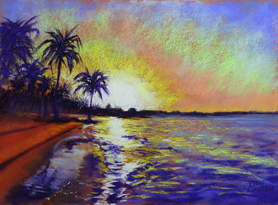 Painting - Sunset On The Sea by Lisa Crisman