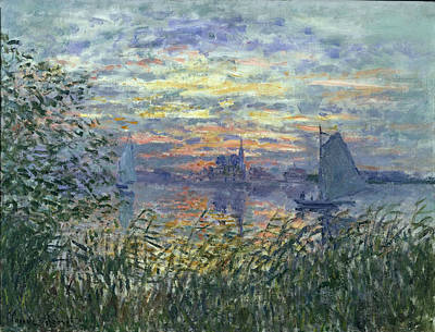 Sunset On The Seine, 1874 Art Print