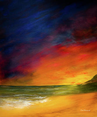 Painting - Sunset On The Shore by Dick Bourgault
