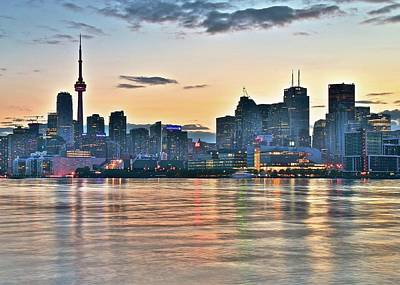 Toronto Maple Leafs Photograph - Sunset On The Shore by Frozen in Time Fine Art Photography