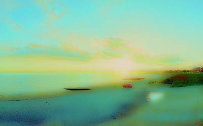 Photograph - Sunset On The Solent by Jan W Faul