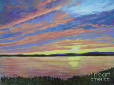 Pastel - Sunset On The South Shore  by Rae  Smith PAC