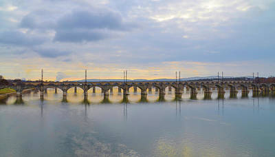 Sunset Photograph - Sunset On The Susquehanna - Harrisburg Pa by Bill Cannon