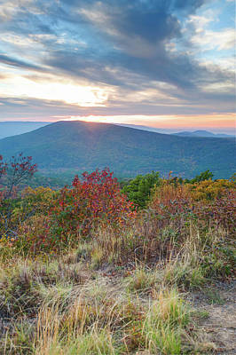 Photograph - Sunset On The Talimena Scenic Byway by Gregory Ballos