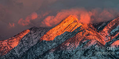 Photograph - Sunset On The Wasatch by Spencer Baugh