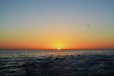 Beach Photograph - Sunset On The Water by Aimee L Maher Photography and Art Visit ALMGallerydotcom