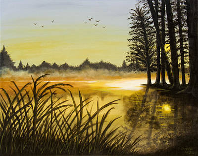Painting - Sunset On The Water by Christie Nicklay