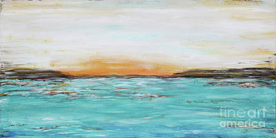 Painting - Sunset On The Water by Jean Plout