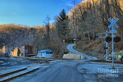 Thurmond Wall Art - Photograph - Sunset On Thurmond West Virginia by Adam Jewell