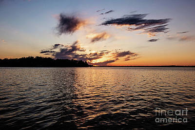 Sunset On Toldeo Bend Lake Art Print