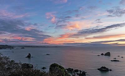 Photograph - Sunset On Trinidad Bay by Loree Johnson