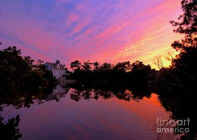 Photograph - Sunset On Turtle Pond by Jean Wright
