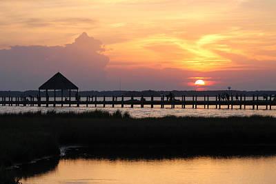 Photograph - Sunset On Wetlands Walkway by Robert Banach