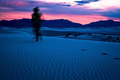 Photograph - Sunset On White Sands by Jonathan Hansen