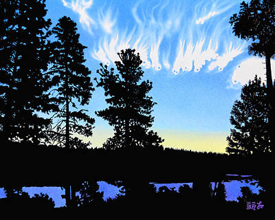 Painting - Sunset On Wickiup by EBENLO Artist