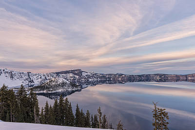 Photograph - Sunset On Wizard Island In Crater Lake National Park by Loree Johnson