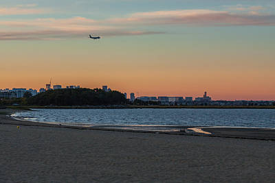 Photograph - Sunset On Wollaston Beach In Quincy Massachusetts by Brian MacLean