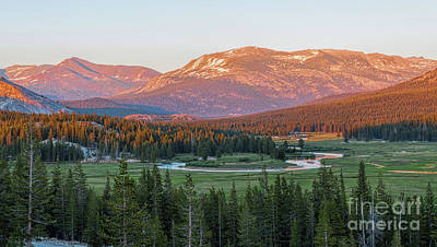 Photograph - Sunset On Yosemite's Meadows by Sharon Seaward