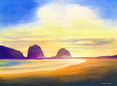 Painting - Sunset Oregon Coast by Douglas Castleman