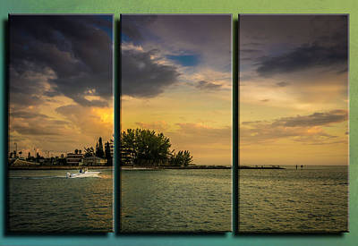 Photograph - Sunset Outing Triptych by Marvin Spates