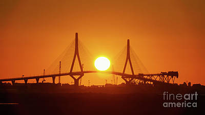 Photograph - Sunset Over 1812 Constitution Bridge Cadiz Spain by Pablo Avanzini
