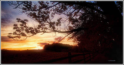 Mountain Landscape Royalty Free Images - Sunset Over a Country Meadow Royalty-Free Image by A Macarthur Gurmankin