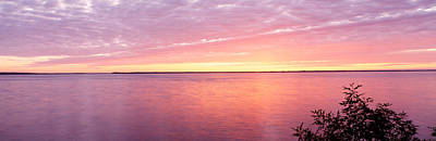 Castle Rock Photograph - Sunset Over A Lake, Castle Rock Lake by Panoramic Images