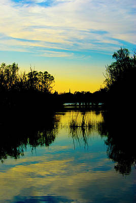 Photograph - Sunset Over A Lake by Pixie Copley