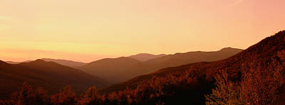 White Mountain National Forest Photograph - Sunset Over A Landscape, Kancamagus by Panoramic Images