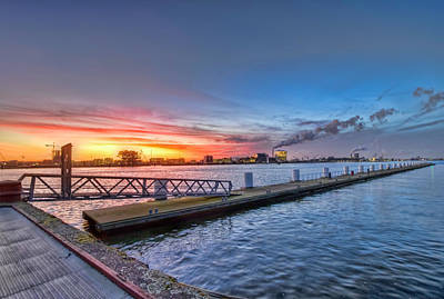 Photograph - Sunset Over Amsterdam by Nadia Sanowar