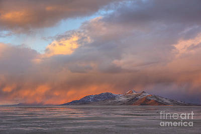 Photograph - Sunset Over Antelope Island by Spencer Baugh