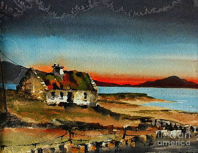 Painting - F 707 Inishfree Bay Near Ardra, Donegal.. by Val Byrne