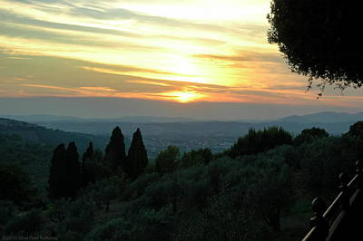 Photograph - Sunset Over Assisi by Francois Dumas