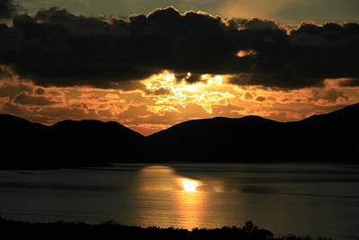Photograph - Sunset Over Ballinskelligs Bay by Aidan Moran