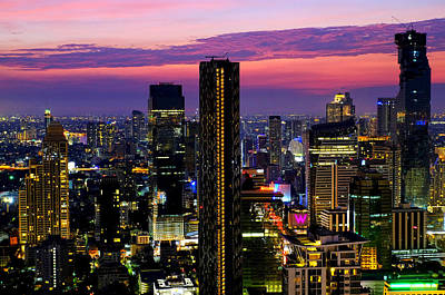 Photograph - Sunset Over Bangkok by Fabrizio Troiani