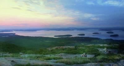 Gulf Of Maine Photograph - Sunset Over Bar Harbor by Lori Deiter