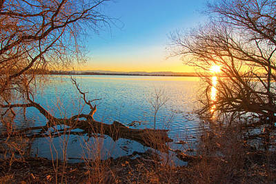 Sunset Over Barr Lake Art Print